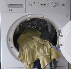 Domestic Dryer with clothes